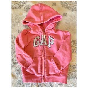 Gap zip up hoodie for baby girl